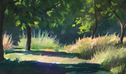 Stimmungsvolle kleine Bilder malen – Landschaft Pleinair