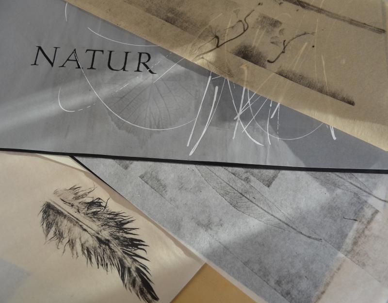 Schrift und Materialdruck