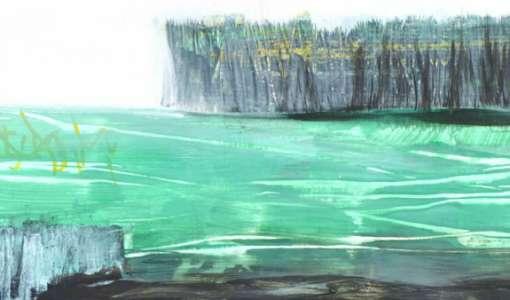 Abstrakte Landschaft - Entdecke das neue Grün
