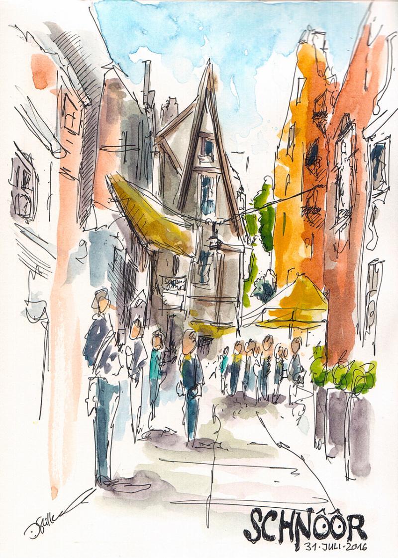Unterwegs mit dem Skizzenbuch in Bremen