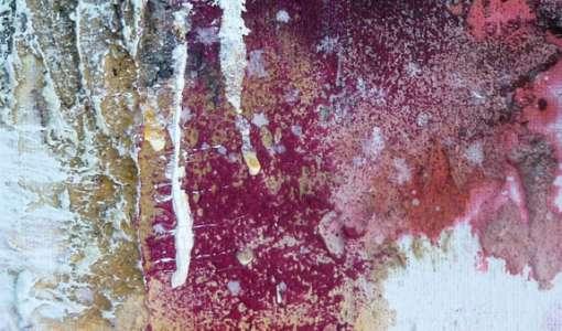 Spachtelexperimente mit Beize und Pigmenten